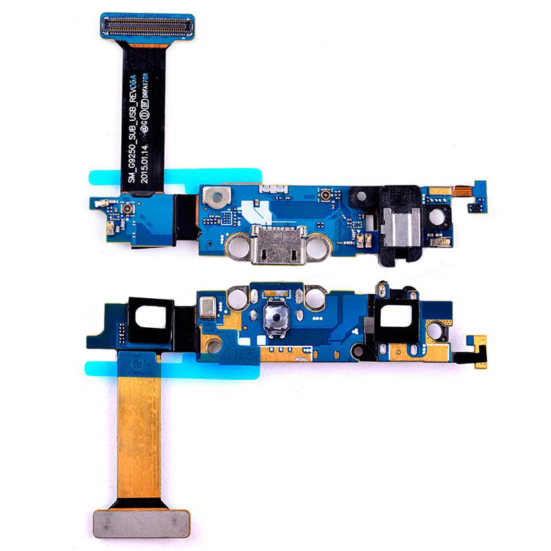 Charging Port with Flex Cable, Headphone Jack, Touch Sensor Keyboard, Home  Button Connector and Microphone for Samsung Galaxy S6 Edge G9250